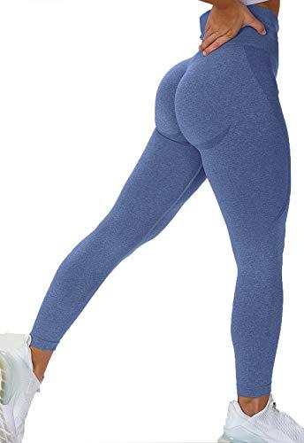 INSTINNCT Calzamaglia da Corsa da Donna Leggings Sportivi Senza Cuciture Push-up Motivo Jacquard...