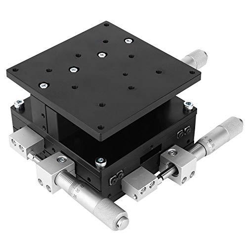 Plataforma de conducción manual, plataforma deslizante de tres ejes Mesa elevadora lineal transversal Mesa deslizante de ejecución manual 90 x 90 mm LD90-LM XYZ