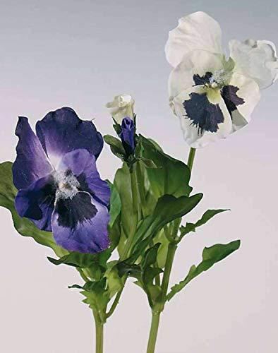 PARC Network - Kunstblume Stiefmütterchen, lila, 20cm - Deko Stiefmütterchen - Künstliche Stiefmütterchen - Hornveilchen Deko - Textilblumen