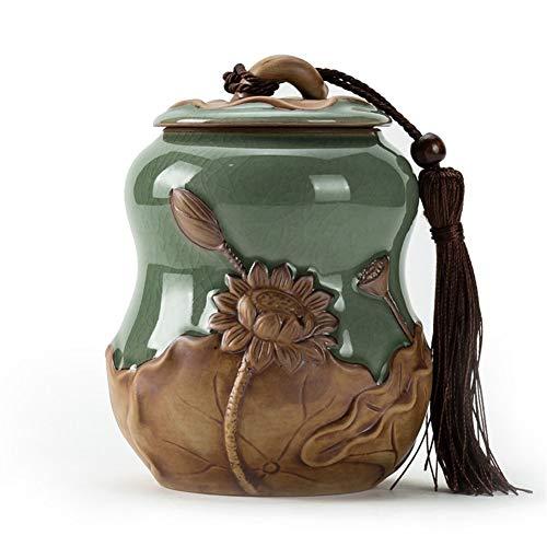 ZWSHOP Thé Canister Puer en céramique boîte scellée Céladon Pot de rangement Taille du thé boîte d'emballage (Size : M)