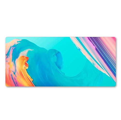 Zeven-kleuren-unieke kunst muisonderlegger oude spel-speler-notitieboek Mat-Pers5onlichiteit-rubber wasbare kussens 900 x 400 x 3 mm.
