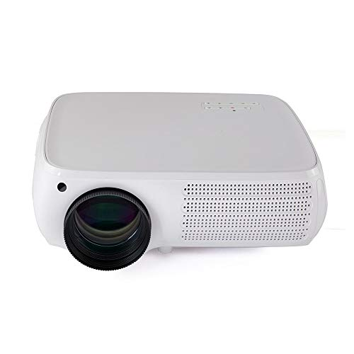 Zengqhui Proyector Teléfono Android Versión Proyector LCD 950 lúmenes 1280X800dpi 1080P HD 4K 3D LED proyector móvil (Color : White Silver, Size : One Size)