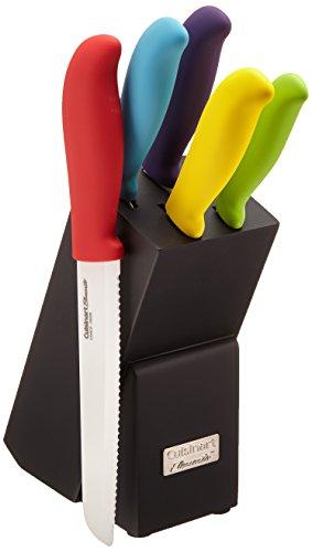 Cuisinart C59CE-C6P Elements Ceramic 6-Piece Cutlery Knife Block Set,...
