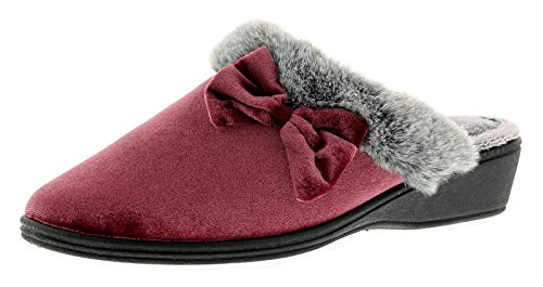Dunlop Rhoda Damen Hausschuhe Pink - Pink - UK Größen 3-8 - Rosa, 42