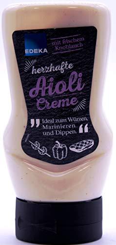 Edeka herzhafte Aioli-Creme mit frischem Knoblauch, 8er Pack (8 x 300ml)