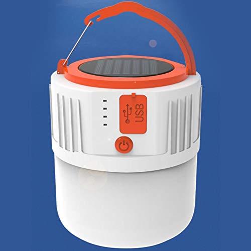 Luz Solar LED para Acampar, lámpara Recargable USB para Tienda de campaña al Aire Libre, linternas portátiles, Luces de Emergencia para Barbacoa, Senderismo