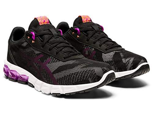 ASICS Women's Gel-Quantum 90 2 W Running Shoes, 5.5M, Black/Orchid