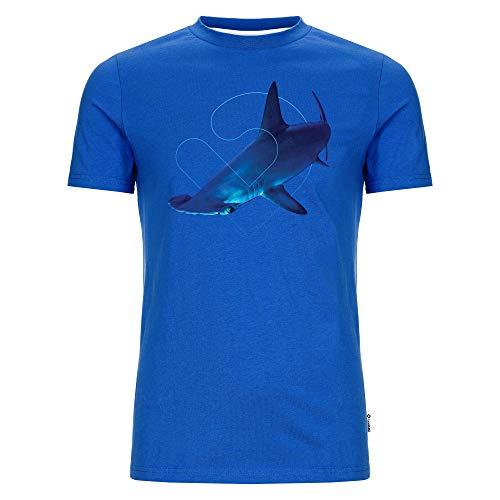 Lexi&Bö Hai T-Shirt Hammerhead Herren für Taucher in blau mit großem Hammerhai Aufdruck Tauchen