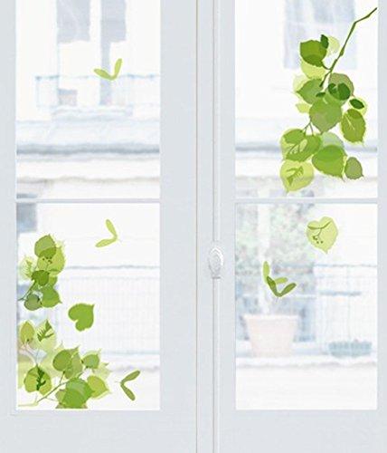 Fensterdeko/ Fensterfolie/ Fenstersticker -Blätterzweige- 24 x 69 cm