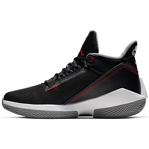 Nike Herren Jordan 2X3 Basketballschuh, Black/Gym RED-Particle Grey-WH, 45.5 EU