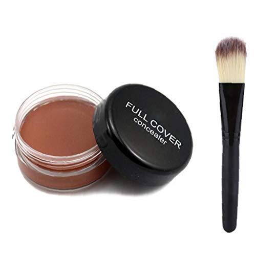 XKJFZ 1set Makeup Concealer Mit Pinsel Professionelle Concealer (pc04) Stiftung Concealermakeup Concealer