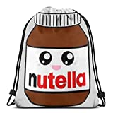 NINGXIE52365 Cute Nutella 3D Print Drawstring Backpack Rucksack Shoulder Bags Gym Bag for Adult 16.9'X14'
