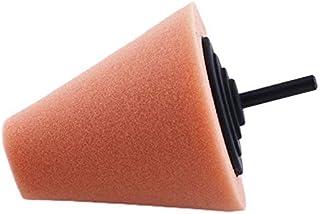 Burnishing Foam Sponge Polijsten Cone Vorm Buffing Pads voor Auto Wiel Hub Care Orabge Kleuren Metalen Pad Zacht Type