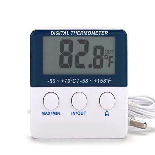 Kai Xin Mini elektronische Thermometer, Hochpräzisions-Alarmfunktion Temperaturmonitor, Kühlschrank, Haus, Büro, Babyzimmer (Color : A)