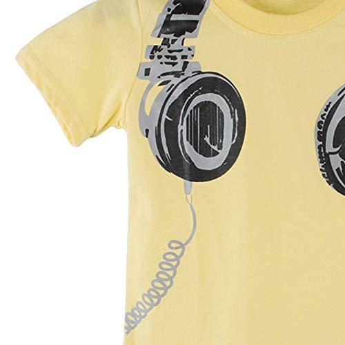 Nywaba Kids Summer Headphone Short Sleeve Tops Blouses T Shirt Tees Clothes White