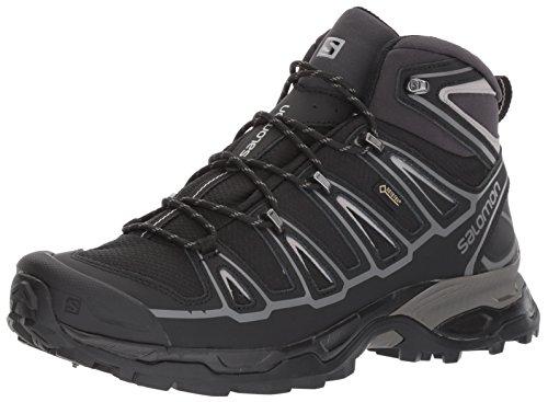 Price comparison product image Salomon Men's X Ultra MID 2 Spikes GTX Snow Boot,  Black / Aluminium,  8.5 M US