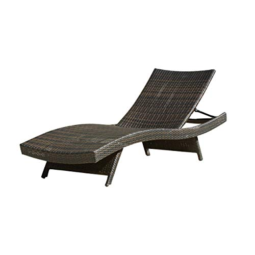 Christopher Knight Home Salem Outdoor Wicker Adjustable Chaise Lounge, Multibrown
