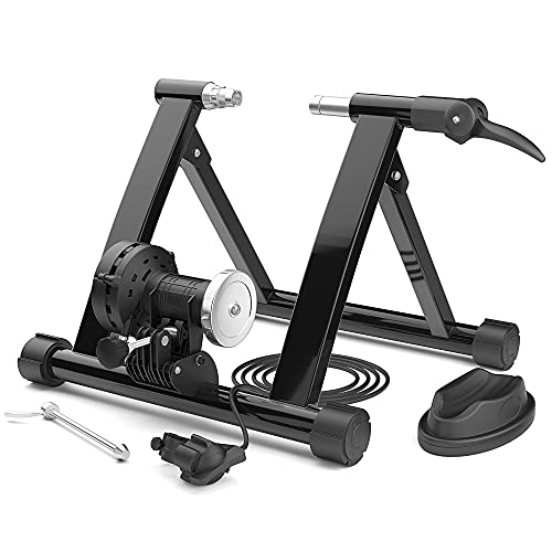 Bike Trainer Stand, Stationary Bike Stand Magnetic Flywheel with 6 Level Resistance Wire Controller Quick Release Low Noise for Indoor Exercise/Workout/Fitness STEELGEAR- SGBTS01