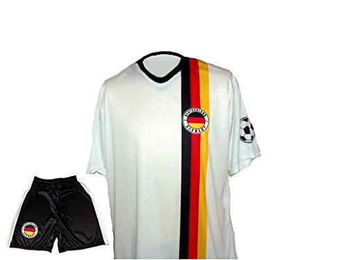 Spielfussballshop Deutschland Trikot Hero + Hose mit Wunschname + Nummer Kinder Größe 176
