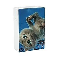 シガレットケース タバコを保護する 常に新品同様 防水 アンチスクイーズ たばこ箱 使いやすい ライトをオフにします 持ち運びが容易 シガレットケース ファッション シガレット 最高の贈り物 チェシャ猫.