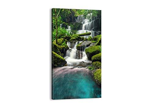 Cuadro sobre lienzo - Impresión de Imagen - parque cascada agua - 65x120cm - Imagen Impresión - Cuadros Decoracion - Impresión en lienzo - Cuadros Modernos - Lienzo Decorativo - PA65x120-3754