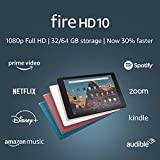 Fire HD 10 Tablet (10.1' 1080p full HD display, 32 GB) – Black (2019 Release)