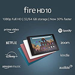 All-New Fire HD 10 Tablet (10.1 inch 1080p full HD display, 32 GB) – Black