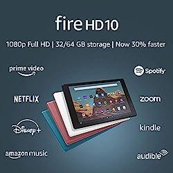 professional Fire HD 10 Tablet (10.1 inch 1080p Full HD Display, 64 GB) – Black – No Ads