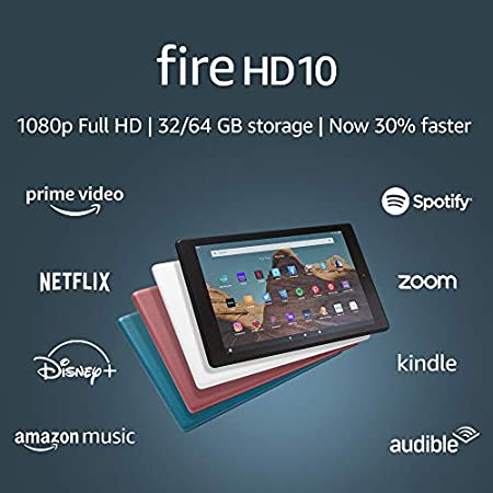 Amazon Fire HD 10 - Best Tablet with USB-C and Fast Charging