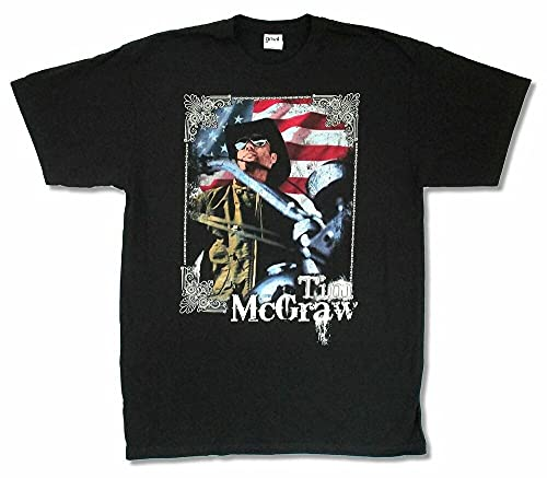 Tim McGraw American Bike 2010 Tour TX-MN Black T Shirt New Official Merch Black M
