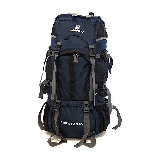 Outdoorer Sac à Dos Tour Bag 50 de, Sac à Dos de Voyage Robuste, Convient également comme Bagage à Main à Bord d'un Avion