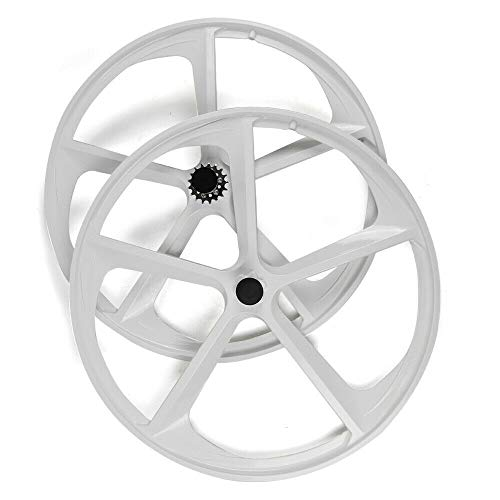 DYRABREST 700c Wheelset Single Speed High Duty Magnesium Alloy 5-Spoke Fixed Gear Rim with Flip-Flop Shock Absorption Bike Spoke Wheel Rim for Fixed-Gear Bikes and Single-speeds