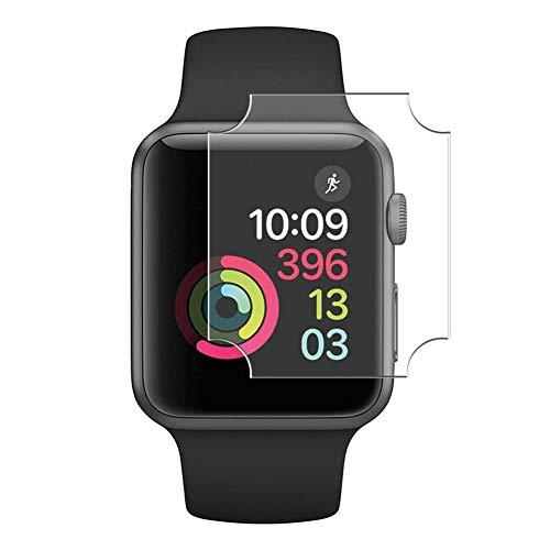 Vaxson 4-Pack TPU Pellicola Protettiva, compatibile con Apple Watch Series 3/2 / 1 38MM, Screen Protector Film [ Non Vetro Temperato ]