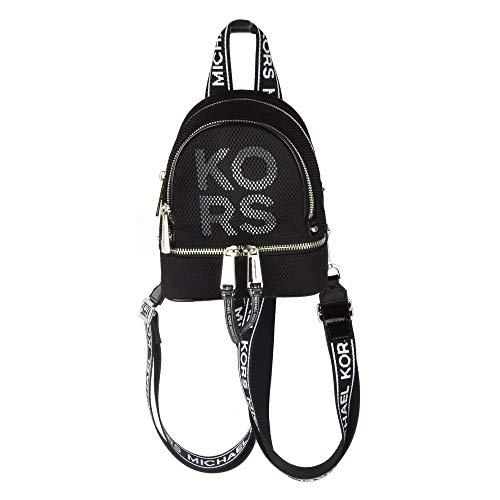 Michael Kors Rhea Logo Mini Convertible Backpack (Bright Red)
