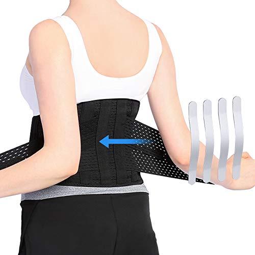 Cinturón de Soporte Lumbar, Faja Lumbar con Correa de Compresión Ajustable, Cinturon Lumbar para el Alivio del Dolor y la Prevención de Lesiones, Talla M