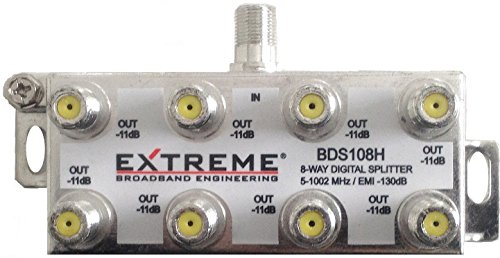 EXTREME 8 WAY BALANCED HD DIGITAL 1GHz HIGH PERFORMANCE HORIZONTAL COAX CABLE SPLITTER - BDS108H