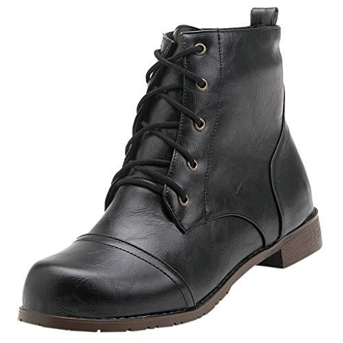 Houshelp Mens Waterproof Shoes Men's Work Casual Leather Boots Comfortable Slip Resistant Travel Walking Business Black