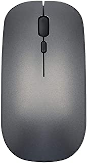 BINGFEI Computer Wireless Mouse Silent PC Maus Raton Rechargeable Muis Ergonomic Mause Souris 2.4Ghz USB Optical Mice for Laptop,Grey