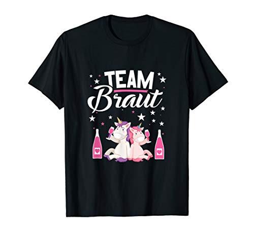 👰 Team Braut Bachelorette Party Einhorn JGA T-Shirt