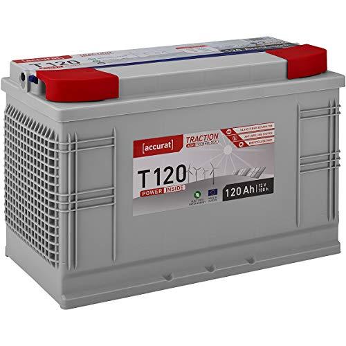 Accurat AGM Batterie 12V 120Ah Versorgungsbatterie Zyklenfest in 6 Varianten