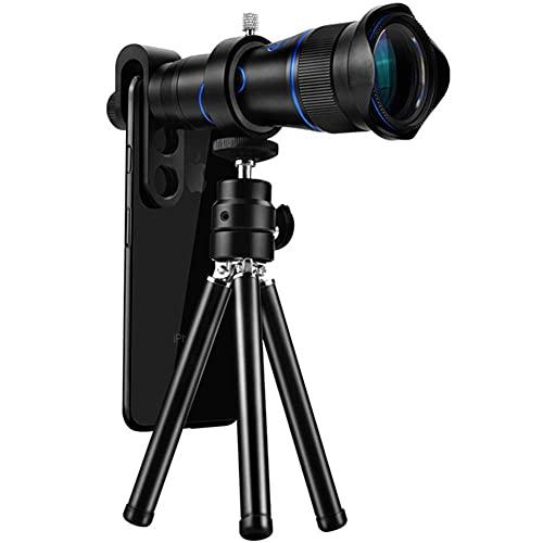 LXHJZ Binoculares monoculares Binoculares con Lente Zoom HD con Soporte para teléfono y trípode binoculares Impermeables para conciertos observación Aves Caza Camping Viajes
