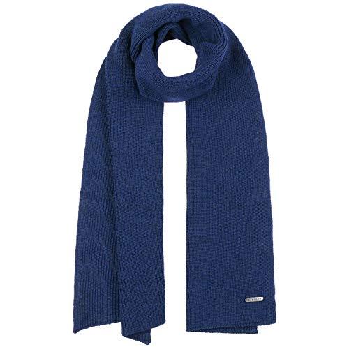 Stetson Caledonia Merino Winterschal Damen/Herren - Made in Italy Wollschal Freizeitschal Herbst-Winter - One Size saphirblau