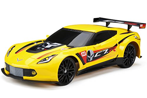 New Bright R/C Chargers F/F Corvette C7R Includes USB Cord and AA Batteries (1:12 Scale)