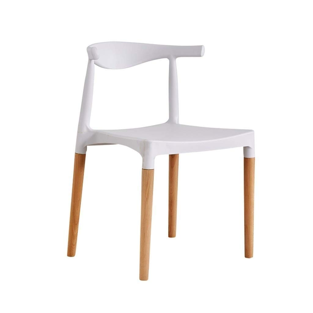 SCDMY Fashionable Dining Chair, Wooden Backrest, Business Chair