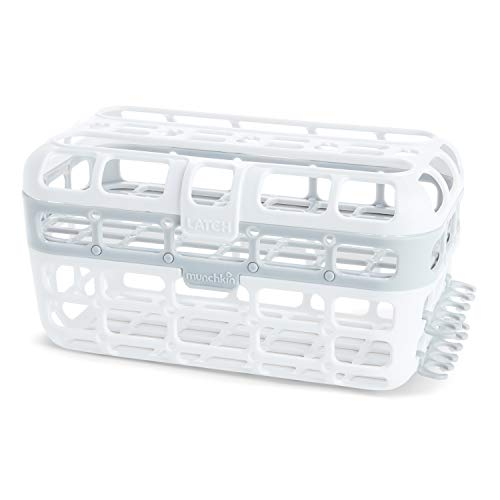 Munchkin High Capacity Dishwasher Basket, 1 Pack, Grey