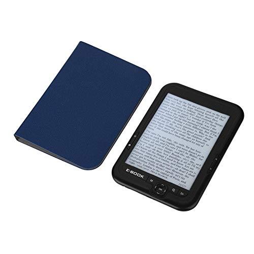 BTIHCEUOT E-Reader de 6 Pulgadas con Pantalla de Tinta electrónica de resolución 800x600 300DPI E-Book con Cubierta Azul (16GB 8GB 4GB)(Negro 4G)