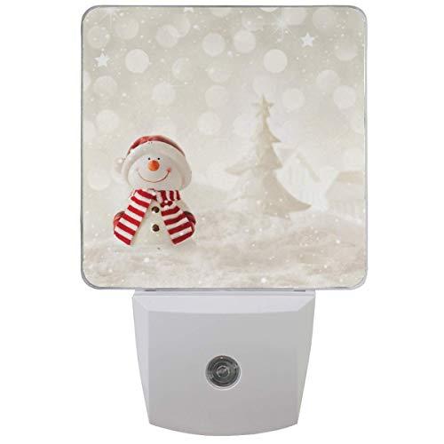 Bouchon de veilleuse d'arbre de Noël d'hiver bonhomme de neige dans l'ensemble de 1 garçons filles bébés, veilleuses flocon de neige
