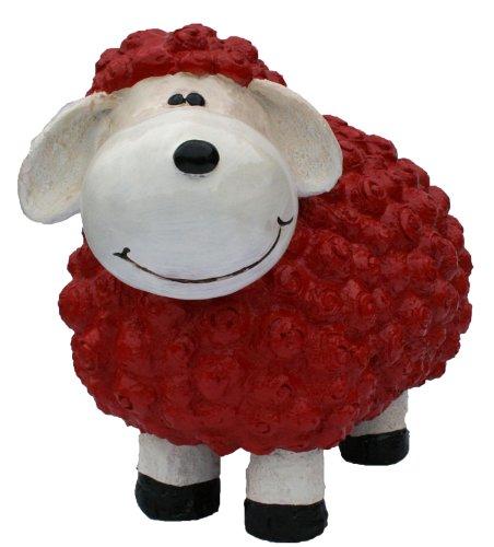 colourliving Dekofigur Schaf Bruno rot bunte Dekoration nicht nur für den Garten