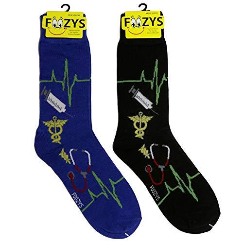 Foozys Herren Arzt Arbeiter Mann Neuheit Crew Socken |2 Paar