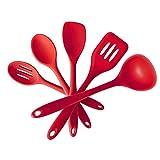 HIZLJJ Utensilios de Cocina de Silicona Set - Esenciales Utensilios de Cocina Herramientas for Utensilios de Cocina Antiadherente - Resistente al Calor Novedades for la Cocina